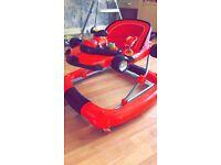 Red racing car walker