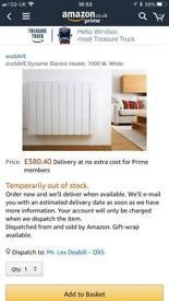 ecoSAVE Dynamic electric heater, 1000 W, White