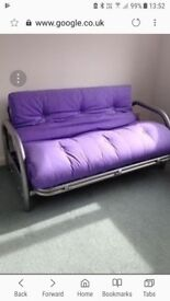 metal framed futon style bed