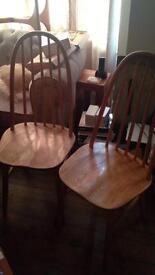 Pair of Ercol style dining chairs
