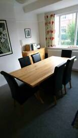 Solid oak 6ft dining table