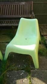 2 Ikea garden/pool chairs