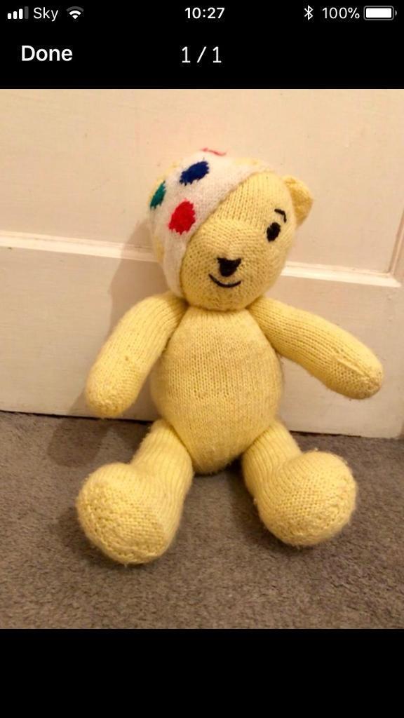 Pudsey Bear Homemade.