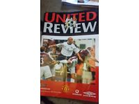 Old Manchester United 'Review ' magazines