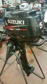Suzuki 5hp 2015 4stroke short shaft outboard as new with factory warranty