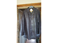 UNION RIVER Classic Outdoor Casual Mens Brown Leather Jacket