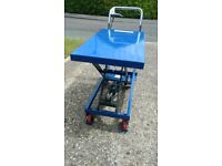 300kg Scissor Lift Hydraulic Platform Table - Costs £298 New - Used Once!