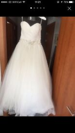 Strapless Wedding Dress size 8