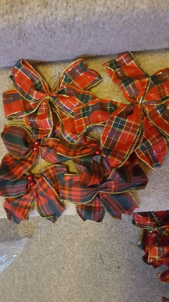 Large tartan bows