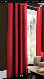 4 panels extra long eyelet lined curtains