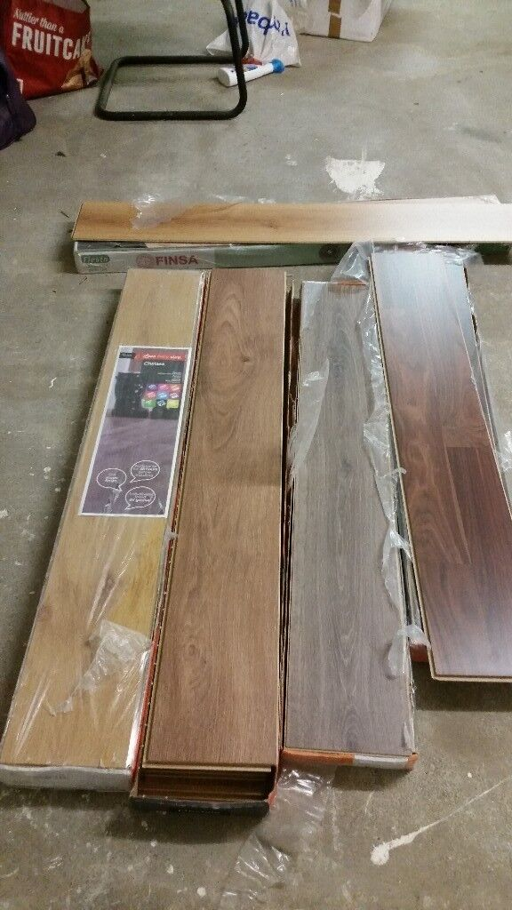 5 New Packs Of Mismatched Laminate Flooring In Liverpool