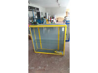 RETAIL DISPLAY CABINET (YELLOW & GREY)