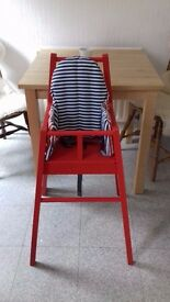 Ikea Blames Highchair with tray & Lyttyg cushion