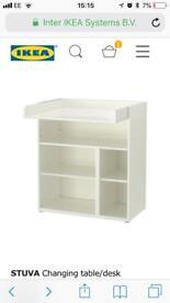Ikea stuva changing table/desk