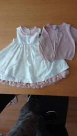 REDUCED M&S dress 9-12 months with sparkle cardigan