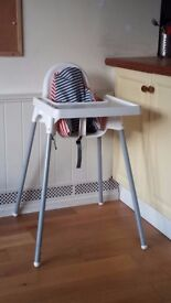 Ikea highchair with insert