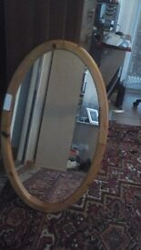 Nice oval wooden mirror