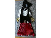 Ladies pirate fancy dress costume / oufit