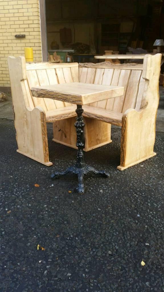 Ash corner bench set