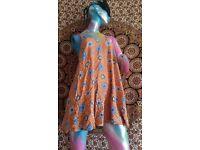 Floaty orange summer slip dress size 10/12