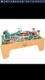 Large rocky mountain train table