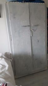 small wardrobe with matching side table and chair
