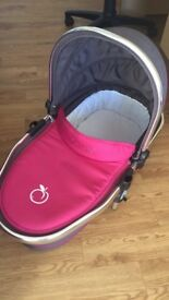 iCandy Peach Carrycot in Pink/Grey colour