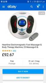 Heartline electromagnetic foot massager and body therapy machine