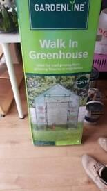 Walk in green house