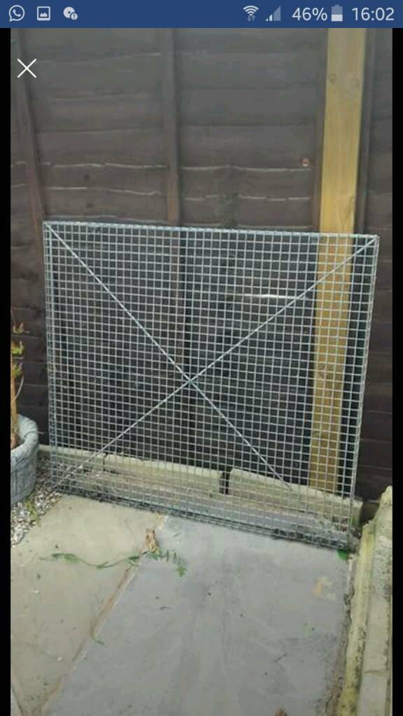 Pair of grilles (cages for Windows on shed or outhouse )