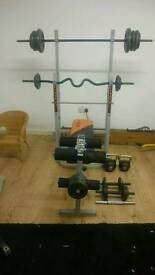 Bench and weights for sale!
