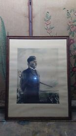 vintage print / etching of sir William A Smith founder of the boys brigade really good look