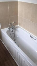 White Bath and Shower Mixer Tap
