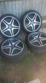 "Genuine AMG 20"" Alloy Wheels"