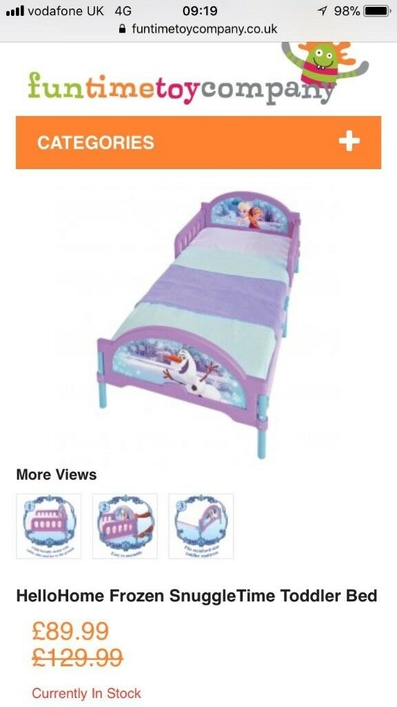 Frozen Childs Bed.