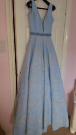 Pale blue occasional dress from Cuckoo,(cost 400) size 8, Prom, wedding, special occasion, worn once