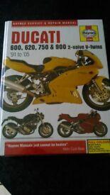 Haynes Ducati 600,620,750,900 twins manual 1991-2005