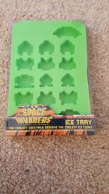 Brand new Space Invaders ice tray ice cubes