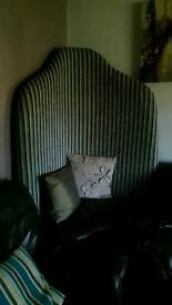 Corner chair with faux leather seat (very large)