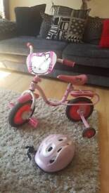 Hello Kitty Young Kids Bike with Stabilizers