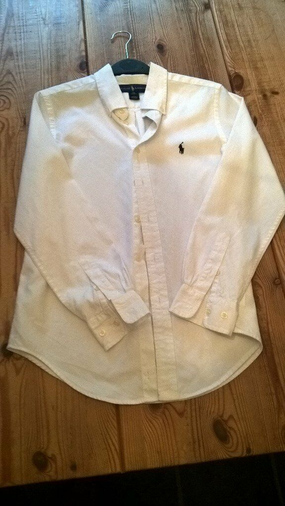 Boys Ralph Lauren White shirt