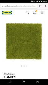 3 x IKEA square rugs, green, brilliant condition