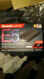 Sound Blaster E5 Bluetooth amplifier 2x 3.5mm out