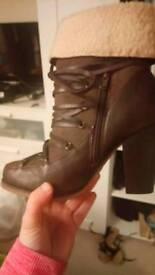 Heeled ladies boots