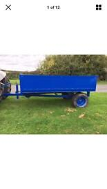 2 Tonne Single Axle Steel Tipping Trailer