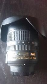 Nikon Nikkor 12-24 mm 1:4 G ED DX IF ** Bargain at £320, new £800+ **