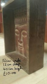 FAB FAIR TRADE BUDDHA BOX - FREE STANDING OR ALSO WALL HANGING - NEW