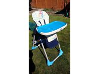 Chicco Height and Seat Adjustable Highchair with Tray