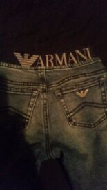 Baby boys armani jeans 9 months
