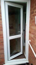 UPVC DOUBLE GLAZED DOOR & FRAME 85CM WIDE 210CM HEIGHT - can deliver locally